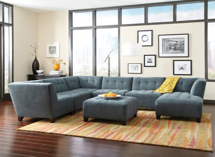Sleek Sophisticated Contemporary Living Or Family Room Furniture @Star  Furniture.