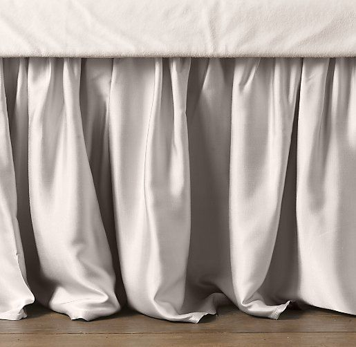 Washed Satin Skirt | Crib & Bed Skirts | Restoration Hardware Baby & Child in dove to match the gray sheets