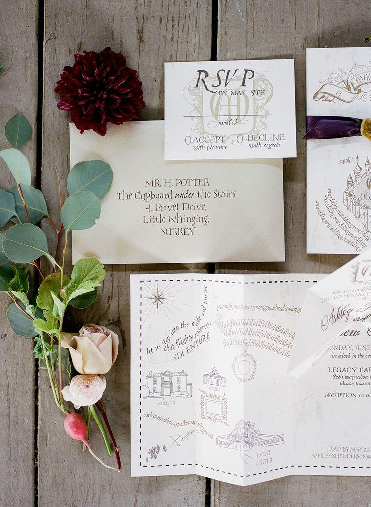 Elegant Purple And Maroon Harry Potter Wedding