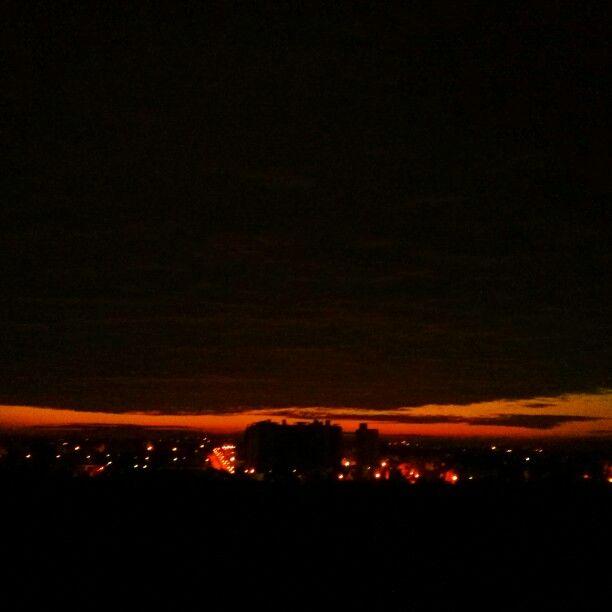 Amber lit dawn
