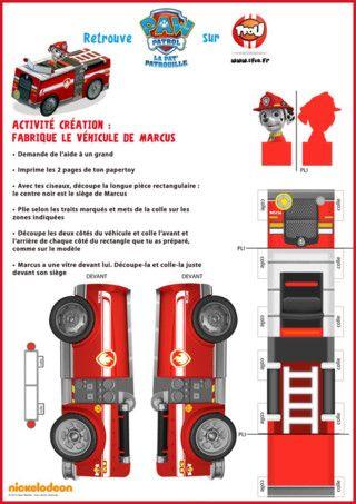 Grâce à l'activité Paper Toy de TFou.fr, construis le superbe camion de pompier de Marcus de la Pat'Patrouille. Découpe et colle tous les éléments et tu découvriras le camion de pompier. Imprime toutes les activités de la série Paw Patrol, la Pat'Patrouille sur TFou.fr.