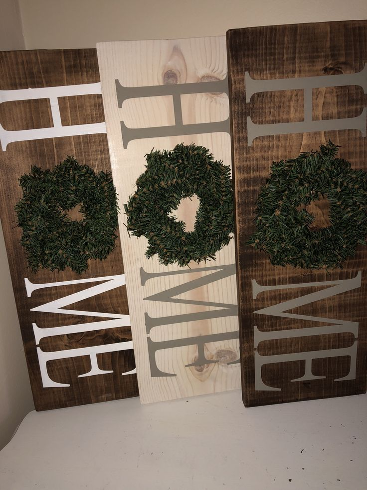 Home Sign with wreath