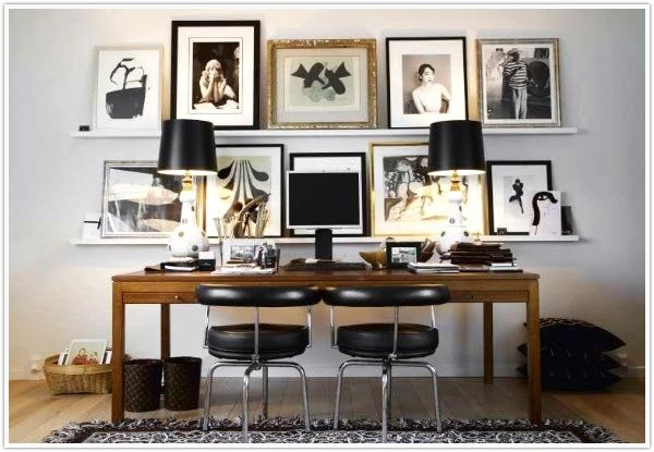 ShelvingMalen Birger, Frames, Offices Spaces, Interiors, Work Spaces, Workspaces, Desks, Gallery Wall, Home Offices