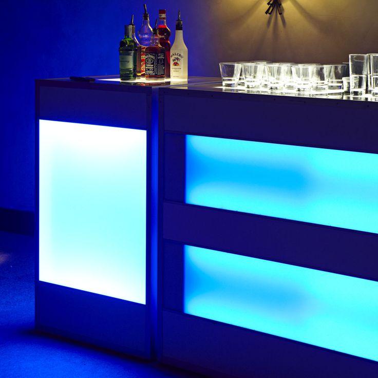 Barras luminosas para la fiesta de tu boda en La Quinta de illescas