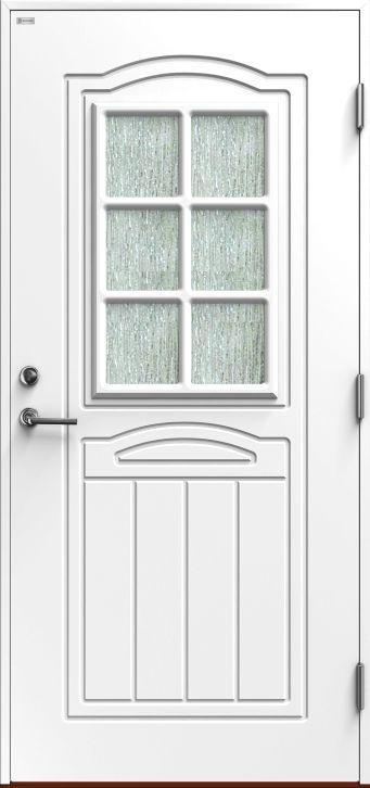 Jubileum. Mer klassisk Ytterdør fra Diplomat er vanskelig å finne. Dette er en av de virkelig velkjente Diplomat-dørene.