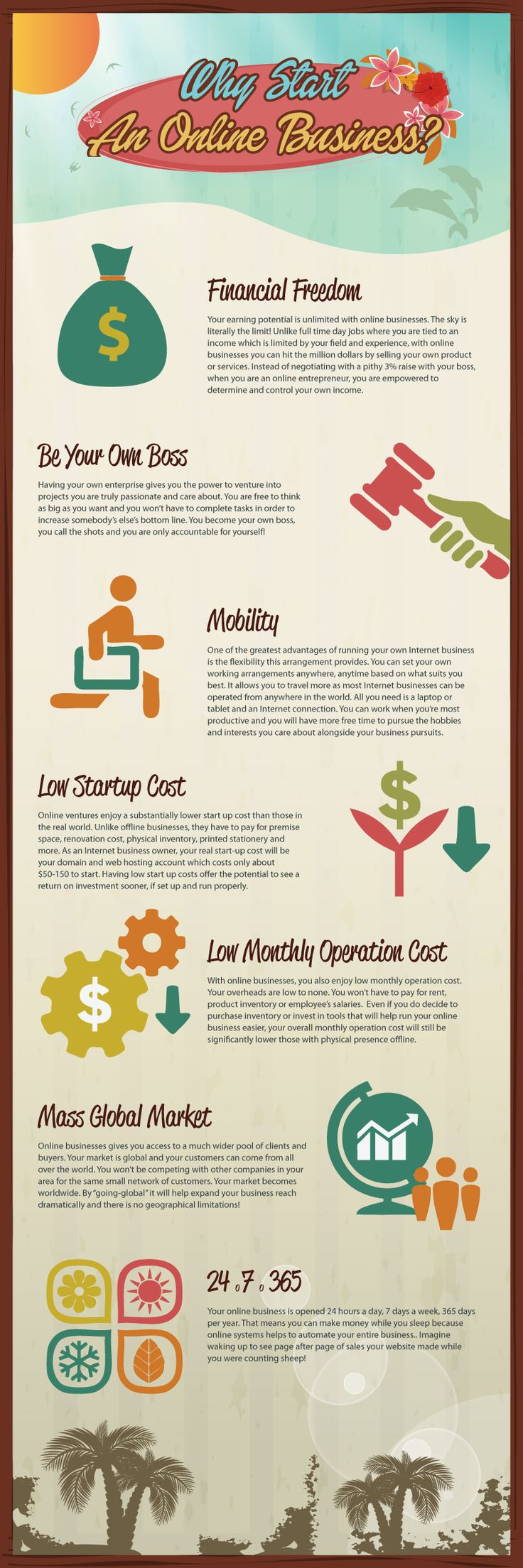 Here's an ‪#‎infographic‬ that lists some of the reasons why you should start an online business.  http://goo.gl/Qjr612