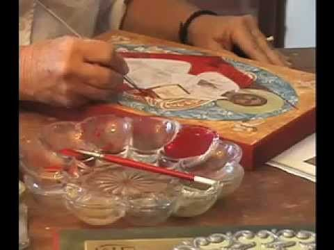 Learn about iconography painting from Mary Jane Miller - YouTube