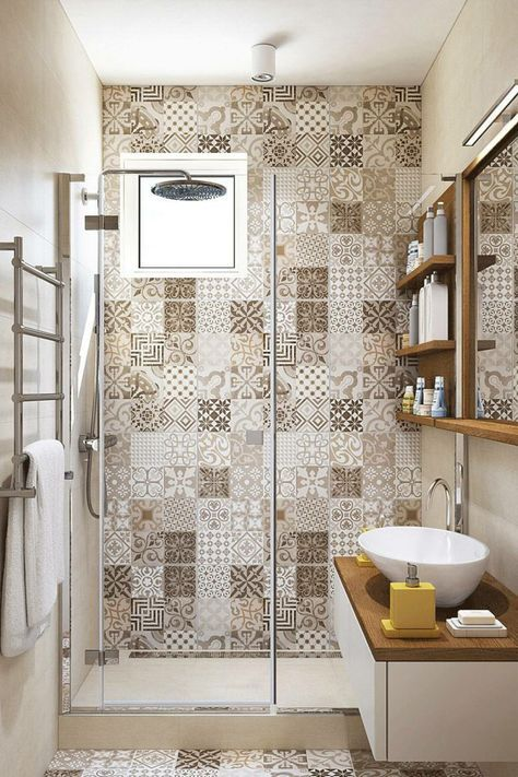 1001 ideas de decoracion para ba os peque os con ducha - Banos con encimera ...