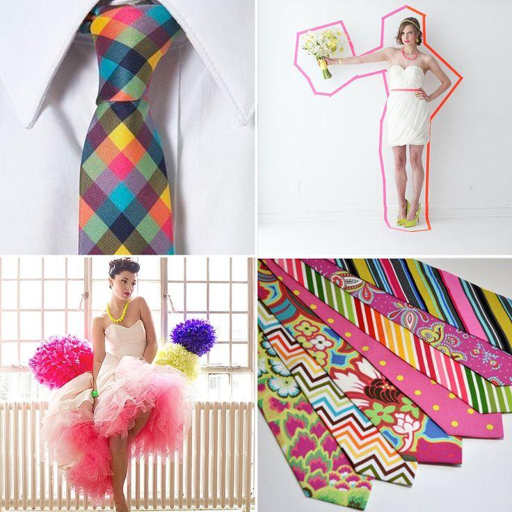 Neon Wedding theme ideas~ cute!