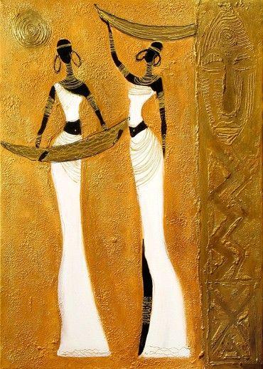 beautiful african art | African Art Paintings Women