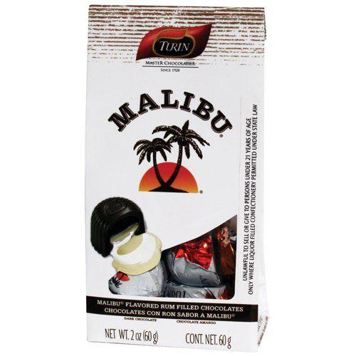 2.1 oz Exquisite Malibu Rum Chocolates Bag - Listing price: $76.99 Now: $9.99