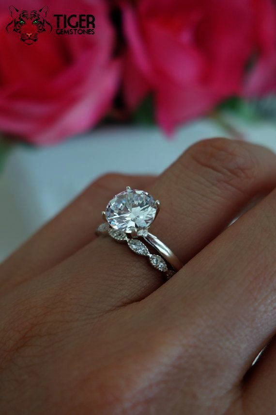 No Way Large Diamond Rings Ebay Collect Wedding Rings Solitaire Solitaire Wedding Set Unique Engagement Rings