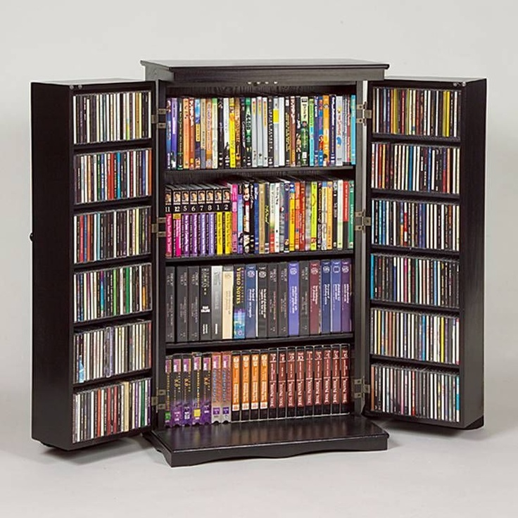 Best Of Black Dvd Cabinet with Doors