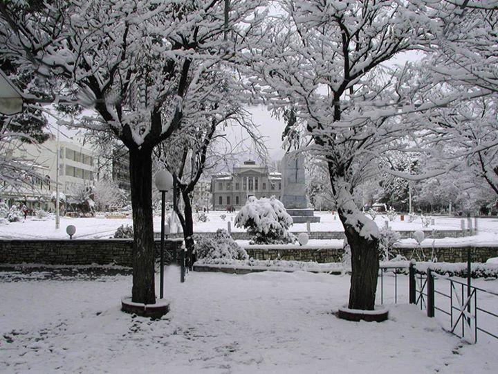 The calmness of the snow. Tripoli yesterday. Arcadia ~ Peloponnese
