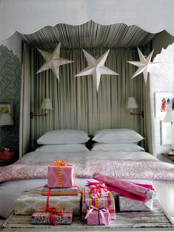 a bed in the stars // images from bungalow and scanned by moodboard from house & garden UK, december 2009