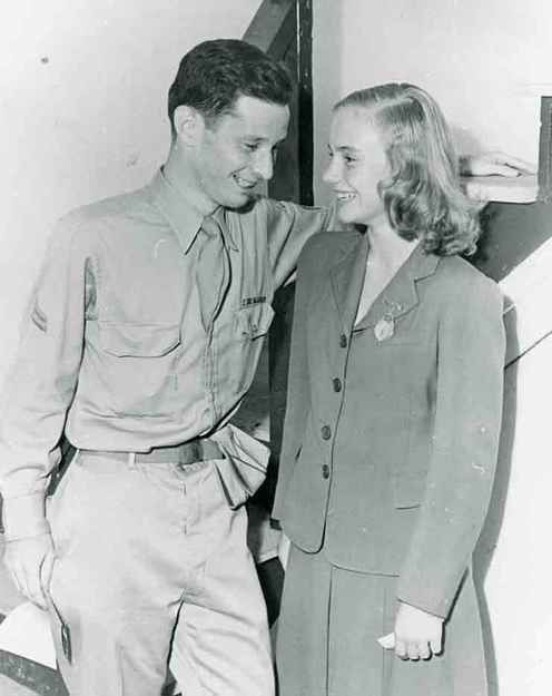 Historic Photograph of Actress, Peggy Ann Garner Chats With A Visiting Serviceman At The Hollywood Canteen