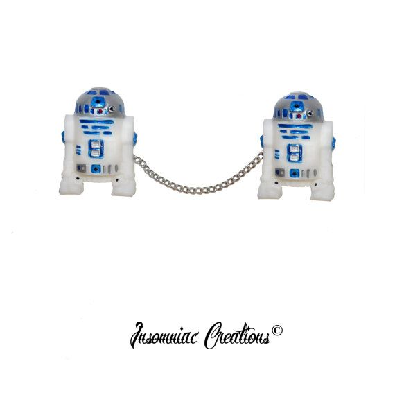 R2D2 STAR WARS 3D Sweater Guards Clips Pin  by InsomniacCreationss