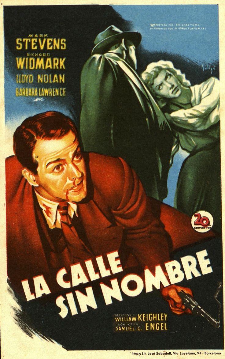 217. SOLIGÓ.  La calle sin nombre. Dirigida por William Keighley. Barcelona: Imp. y Lit. José Sabadell, [1948]. #ProgramasdeMano #BbtkULL #CineNegro #DiadelLibro2014