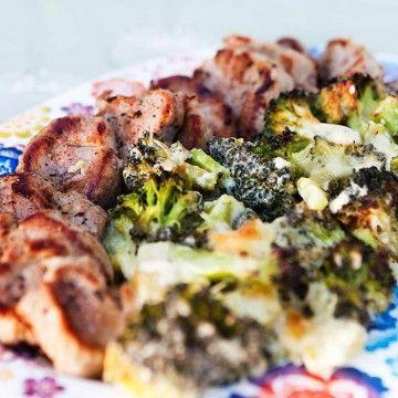 Fläskfilé med broccoligratäng - Recept - Tasteline.com