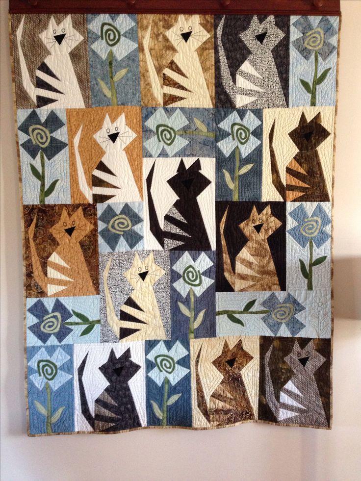 588 Best Cat Quilts Images On Pinterest Cat Quilt Cats