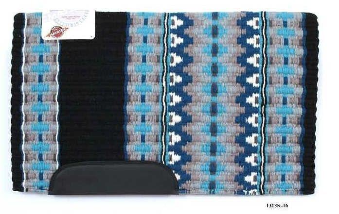 "Western Wool Show Saddle Blanket-Custom-34/""x40/""-Black-Turq-Teal-Grey-Metallic"