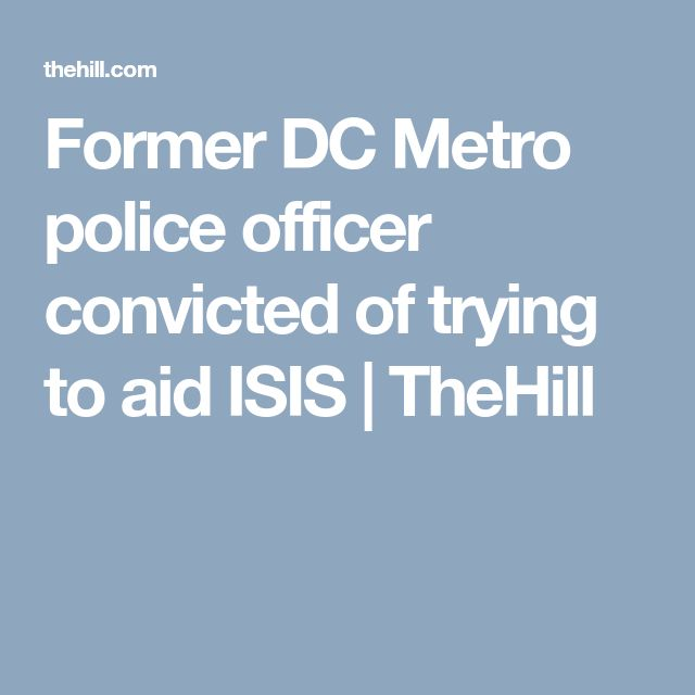 Former DC Metro police officer convicted of trying to aid ISIS | TheHill