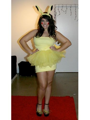 """""""I always thought that Pikachu from Pokémon was such an adorable character, but I had never seen a cute costume for girls, so I made my own costume complete with tutu!"""" —Catherine, 23, CA   - Seventeen.com:"""