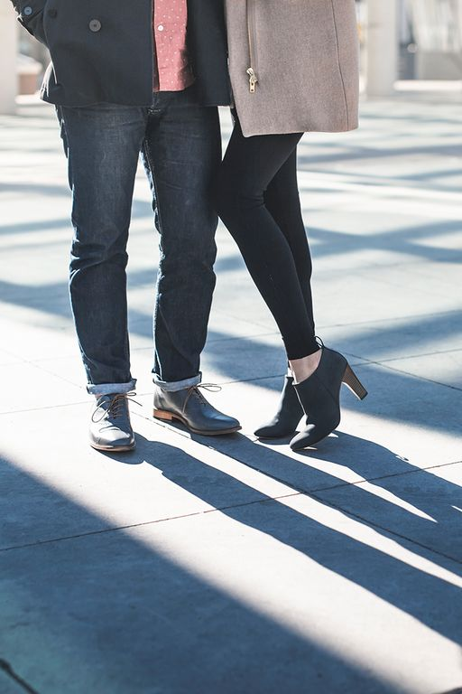 The Must-Have Fall and Winter Colour: Gotham Grey. Poppy Barley offers women's and men's made-to-measure shoes in sizes 5-15 and are customized to fit narrow, standard or wide feet. Featured here are our women's heeled ankle boot and men's Toronto Brogue oxford | PB Fall15 Lookbook