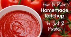 Brilliant! Make Ketchup at Home In Just 2 Minutes!