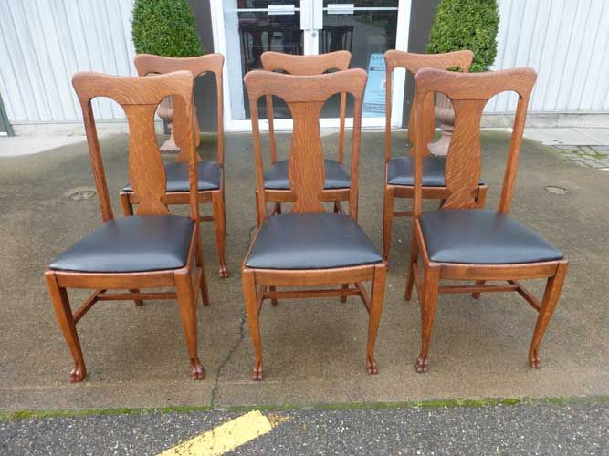 Antiques By Design - Paw Foot Quarter Sawn Oak T Back Dining Chairs - 56 Best Antique Dining Chairs Images On Pinterest Antique Dining
