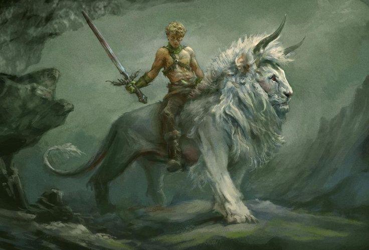 Fantasy Male Warriors | Fantasy art. swords, horned lions, guardians. | Fantasy Warriors
