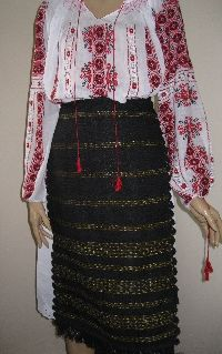 Romanian costume's antique aprons from Carpathian Mountains .  Available at www.greatblouses.com