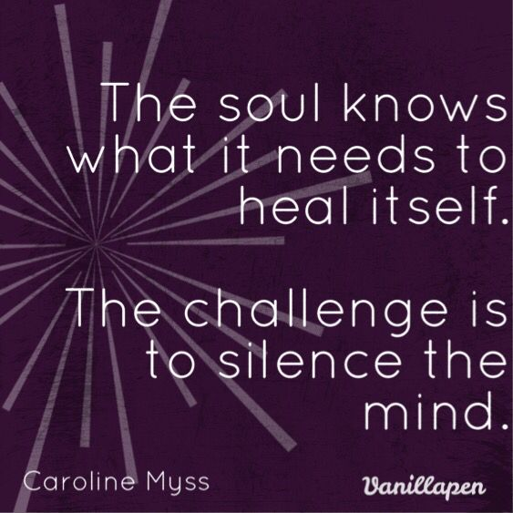 The soul knows what it needs. We need to silence the mind! Quote