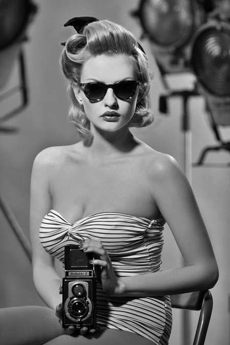 The Massada Eyewear SS11 Photo Campaign is a Tribute to the '50s #fashion trendhunter.com