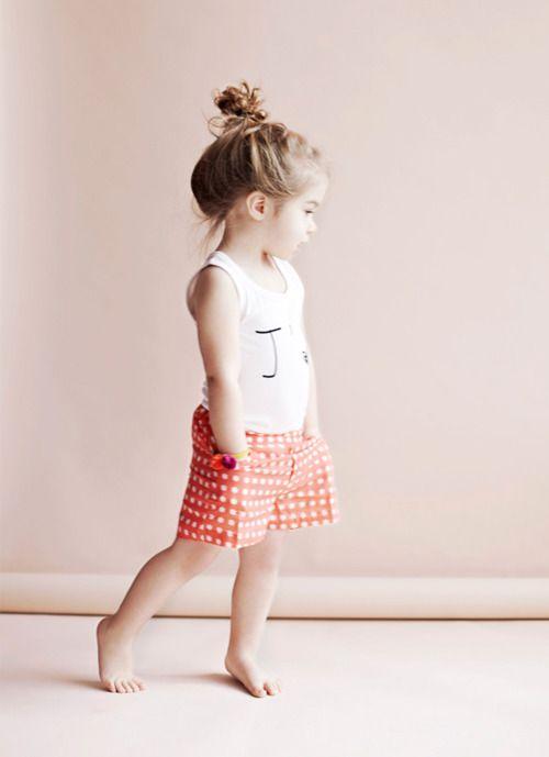 Little Dots: Little Girls, Polka Dots, Hairs, Kids Fashion, Children, Messy Buns, Knots, Daughters, Baby Girls