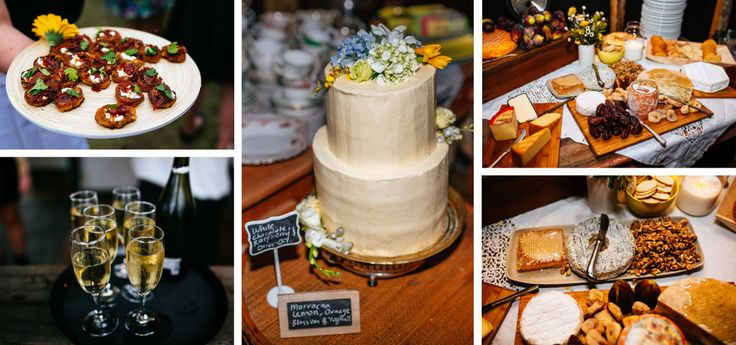 some of the delicious treats from our wedding...yum! cheese table created by the wild rabbit, wedding cake by miss marion bakes