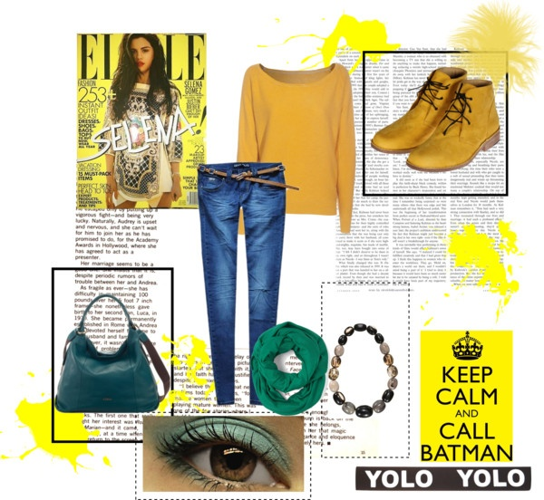 """yellow & green"" by barbara-bragatto on Polyvore"