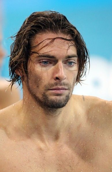 Fabien Gilot at swimming  practice at the Aquatics Center of the Olympic Park