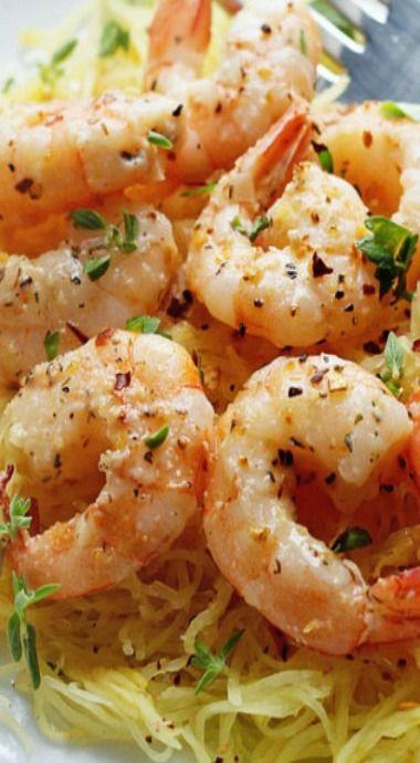 light shrimp scampi with spaghetti squash fabulous
