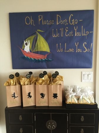 Where the Wild Things Are Party Gift Bags Cookies Signage Handmade Entrance
