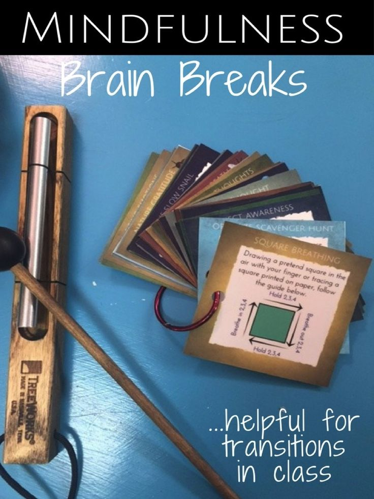 Mindfulness Brain Breaks to help students focus and get calm.  Great for classroom transitions.