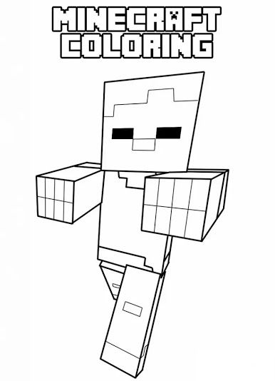9 Best Minecraft Coloring Pages Images On Pinterest
