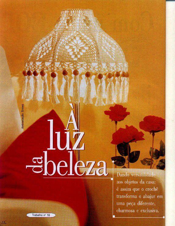 Entre Hilos y Puntadas: Lámpara para decorar tu casa en crochet solteje.blogspot.com