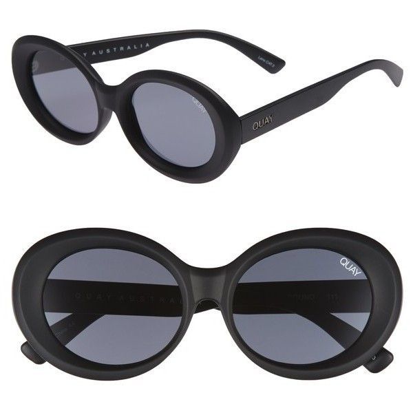 Women's Quay Australia Mess Around 52Mm Oval Sunglasses (79 AUD) ❤ liked on Polyvore featuring accessories, eyewear, sunglasses, matte sunglasses, quay glasses, quay sunglasses, quay sunnies and oversized oval sunglasses