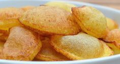 Pomme de Terre Soufflées - Puffed Potatoes - Pommes soufflées are a sophisticated variety of French fried potato by which slices of potato are fried twice. The potato slices puff up into little balloons during the second frying and turn golden brown. - http://aussietaste.recipes/vegetables/potato/pomme-de-terre-soufflees-puffed-potatoes/ - #recipe