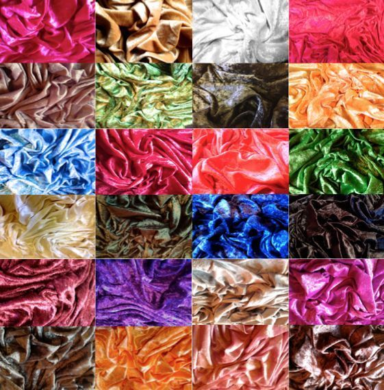 Premium CRUSHED VELVET FABRIC Craft Stretch Velour Material Extra Wide in Crafts, Sewing & Fabric, Fabric | eBay