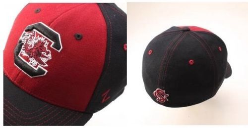 Zephyr-South-Carolina-Gamecocks-Uppercut-Flex-Hat-Cardinal-Black-Size-M-L-NWT