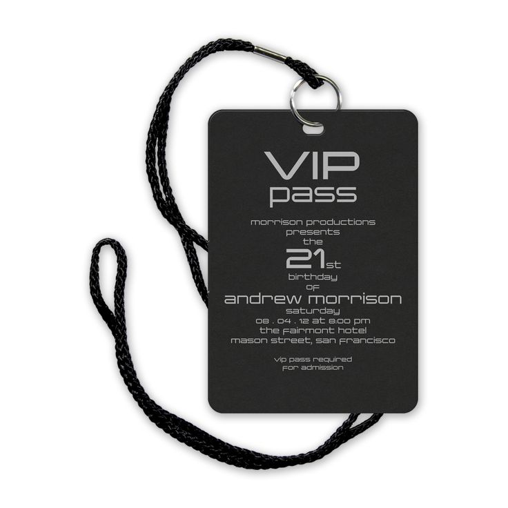vip pass | VIP Pass eInvite Party Birthday Parties Adult