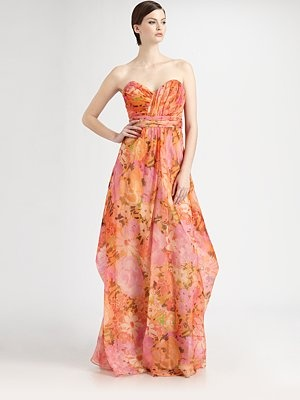 Badgley Mischka  Silk Floral Gown: Floral Gown, Fancy Dresses, Amazing Gowns, Fashion, Silk Floral, Evening Gowns, Bridesmaids Dresses, Badgley Mischka, Floral Dresses