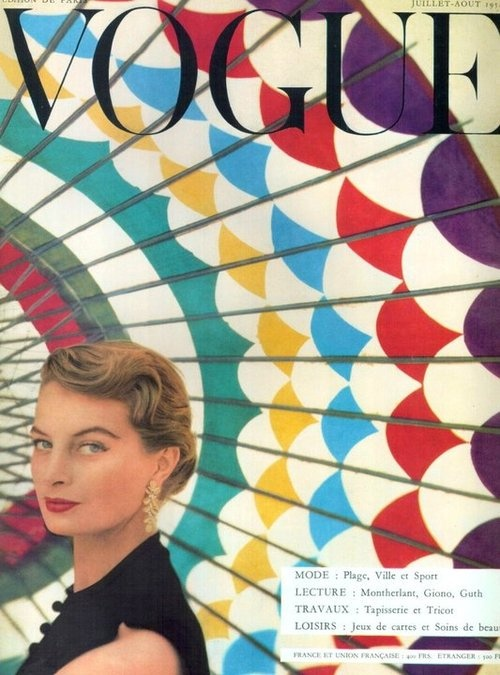 Capucine, Vogue Paris July 54. Instant reblog.